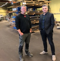 Mikael Birgersson och Farhad Nekouei
