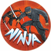 Papperstallrikar Ninja 22,9cm 8p 27kr