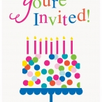 Inbjudningar tårta 8p 18kr
