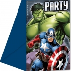 Inbjudningar Avengers 6p 49kr