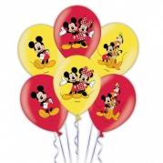 Ballonger Musse 4-färg 27,5cm 6st 45kr