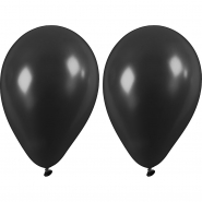 Ballonger svarta 23cm 10st 20kr