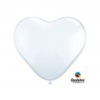 Ballonger 20st 15cm heart white 29kr