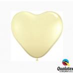Ballonger 100st 15cm heart ivory 133kr