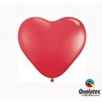 Ballonger 30st 15cm heart red