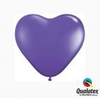 Ballonger 20st 15cm heart purple violet 29kr