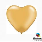 Ballonger 30st 15cm heart gold