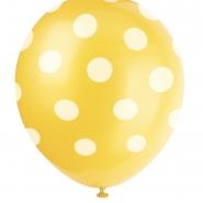Ballonger Polka dot yellow 30,48cm 6st 29kr