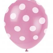 Ballonger Polka dot hot pink 30,48cm 6st 29kr