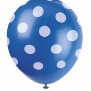 Ballonger Polka dot blue 30,48cm 6st 29kr