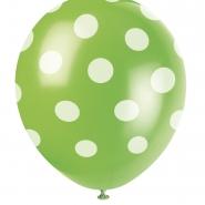 Ballonger Polka dot green 30,48cm 6st 29kr