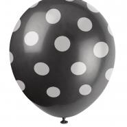 Ballonger Polka dot black 30,48cm 6st 29kr