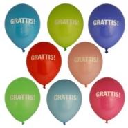 Ballonger Grattis! 27,5cm 8st 30kr