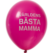Ballonger Världens bästa mamma! 27,5cm 8st 30kr