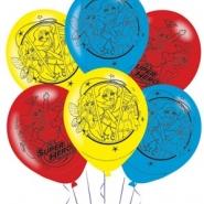 Ballonger DC suerhero girls (4 sidor) 27,5cm 6st 38kr