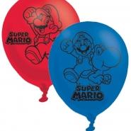 Ballonger Super Mario (4 sidor) 27,5cm 6st 42kr