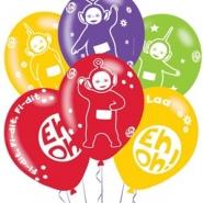 Ballonger Teletubbies (4 sidor) 27,5cm 6st 37kr