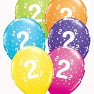 """Ballonger 27,5cm 6st blandade färger """"2"""" 32kr"""