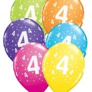 """Ballonger 27,5cm 6st blandade färger """"4"""" 32kr"""
