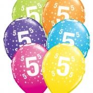 """Ballonger 27,5cm 6st blandade färger """"5"""" 32kr"""