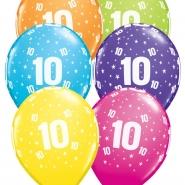 """Ballonger 27,5cm 6st blandade färger """"10"""" 32kr"""