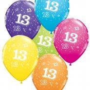 """Ballonger 27,5cm 6st blandade färger """"13"""" 32kr"""