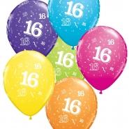 """Ballonger 27,5cm 6st blandade färger """"16"""" 32kr"""
