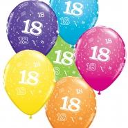"""Ballonger 27,5cm 6st blandade färger """"18"""" 32kr"""