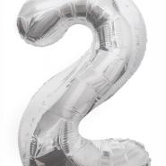 """Folieballong siffra """"2"""" 86cm 49kr"""