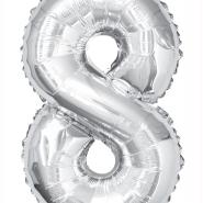 """Foleballong siffra """"8"""" 86cm 49kr"""