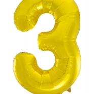 """Folieballong siffra """"3"""" 86cm 49kr"""