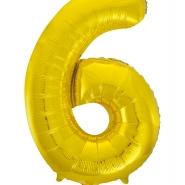 """Folieballong siffra """"6"""" 86cm 49kr"""