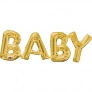 Baby guld airfill 22x66cm 49kr