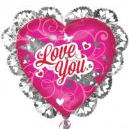 Folieballong loveyou 57,5cm 67kr