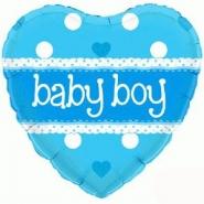 Folieballong babyboy 45cm 26kr