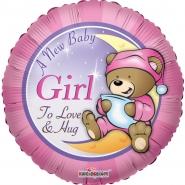 Folieballong A new baby girl 45cm 26kr