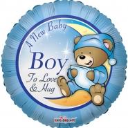 Folieballong A new baby boy 45cm 26kr