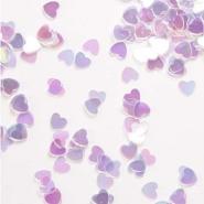 Konfetti clear pearl hjärtan 14g 10kr