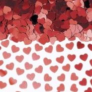 Konfetti röda hjärtan 14g 10kr