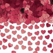 Konfetti burgundy hjärtan 14g 10kr