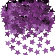 Konfetti lila stjärnor 14g 10kr