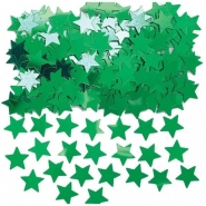Konfetti grön stjärnor 14g 10kr