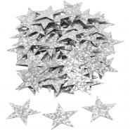 Konfetti hologram silver stjärnor 10g 24kr