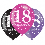 Ballonger 27,5cm 6st Pink celebration 18år 25kr