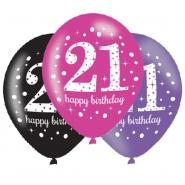 Ballonger 27,5cm 6st Pink celebration 21år 25kr