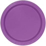 Papperstallrikar 21,9cm 8st Pretty purple 18kr