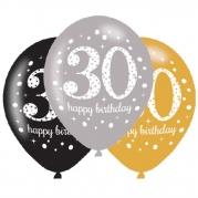 Ballonger 27,5cm 6st gold celebration 30år 29kr