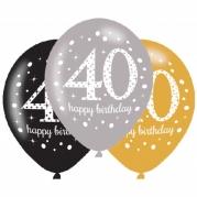 Ballonger 27,5cm 6st gold celebration 40år 25kr