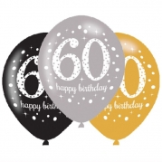 Ballonger 27,5cm 6st gold celebration 60år 25kr