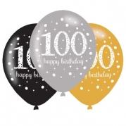 Ballonger 27,5cm 6st gold celebration 100år 29kr